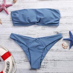 Other - 🌴SHIPS NOW🌴 SARA Blue Bandeau Cheeky Bikini